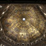The mosaics inside Florence Baptistery