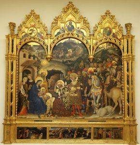 Gentile da Fabriano - Adoration of the Magi - Uffizi Gallery