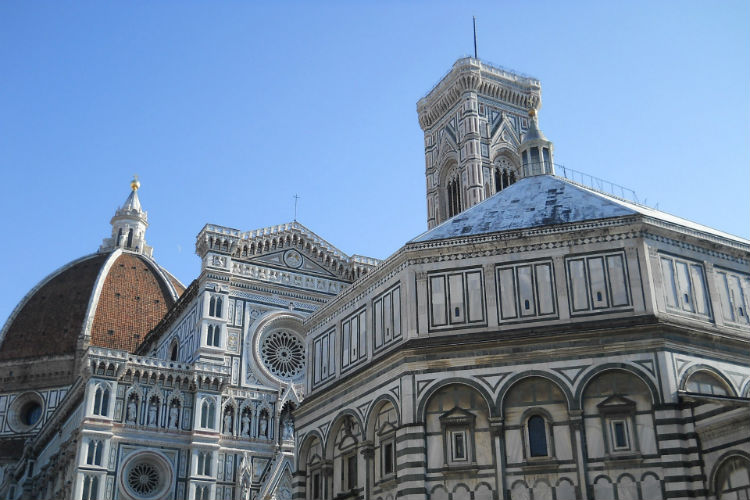 Florence Baptistery - An ancient temple in Florence Italy