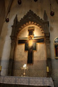 santa trinita painted cross