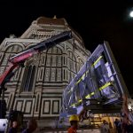 Baptistery North doors moved into Duomo Museum
