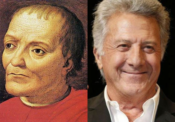 Dustin Hoffman in the cast of Medici Masters of Florence