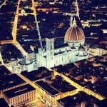 Duomo in Florence from helicopter